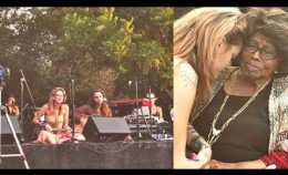 Paris Jackson perfoming live at Canyon Sessions with Soundflowers band |